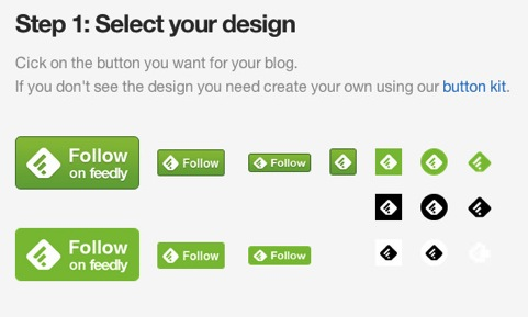 Feedly button step1