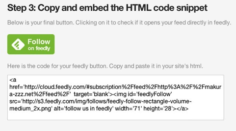Feedly button step3